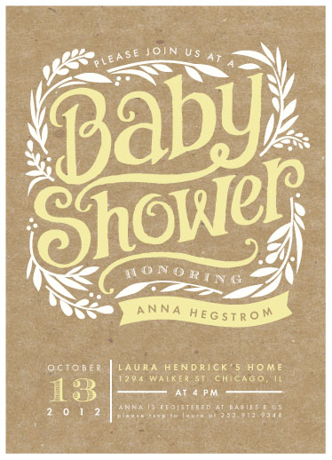 baby shower invitations - Show Poster by Alethea and Ruth
