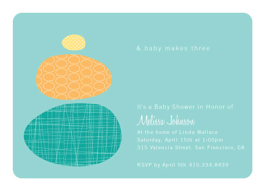 baby shower invitations - Modern Family by Jean Barbari
