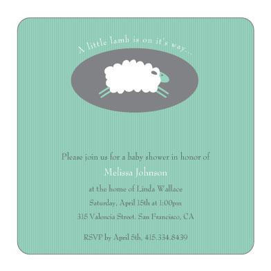 baby shower invitations - little lamb baby shower invitations at, Baby shower invitations