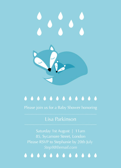 baby shower invitations - Vixen and Cub by Rebecca Jackson