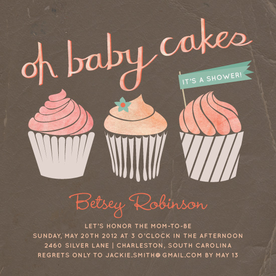baby shower invitations - oh baby cakes by Kathleen Niederhauser