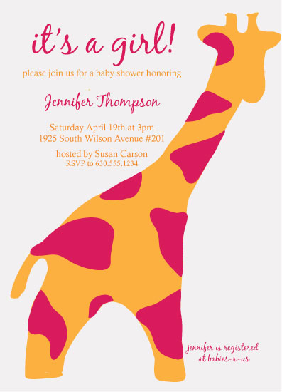 baby shower invitations - Toy Giraffe by Squareview Studios