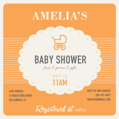 baby shower invitations - retro baby by trbdesign