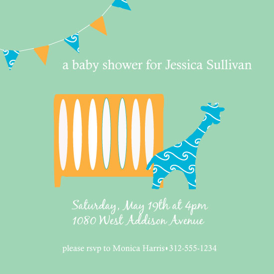 baby shower invitations - New Nursery by Squareview Studios
