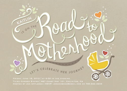 baby shower invitations - Road Trip by Griffinbell Paper Co.