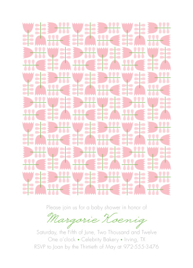 baby shower invitations - Flower Quilt by Ann Gardner