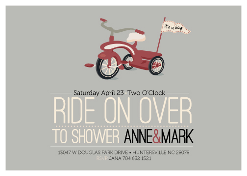 baby shower invitations - Ride On Over  by Lori Wemple