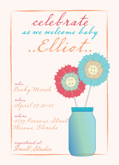 baby shower invitations - Pinwheel Celebration by Amy Weir