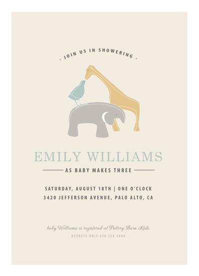 baby shower invitations - Baby Animal Family by INKandIRON