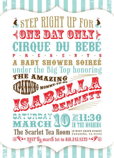 baby shower invitations vintage cirque at Mintedcom