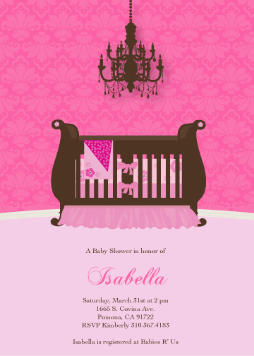 baby shower invitations - Couture Nursery by Celene Mendez