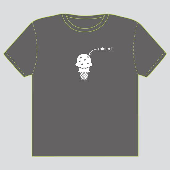 minted t-shirt design - Mint Chocolate Chip by Tami Bohn
