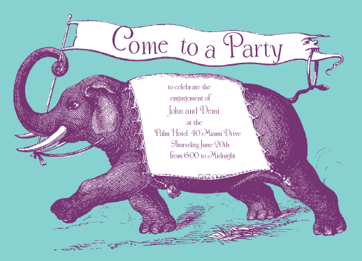 party invitations - Elephant announcement by Karen Robert