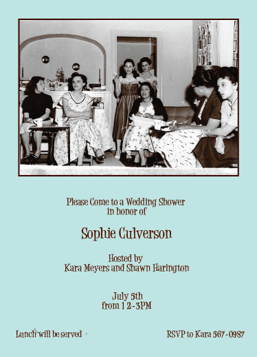party invitations - A 1950's Shower by Karen Robert