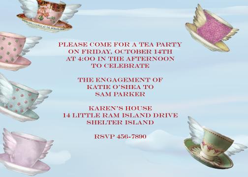 party invitations - Tea Party by Karen Robert