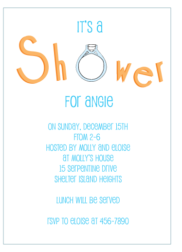 party invitations - Shower Fun by Karen Robert
