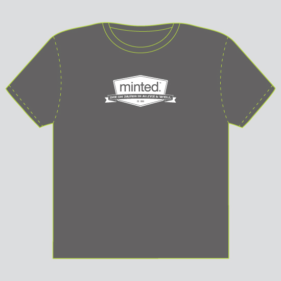 minted t-shirt design - Ink on Paper is Alive and Well by Laura Bolter Design