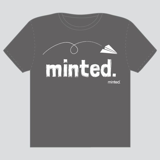 minted t-shirt design - paper plane by Waui Design