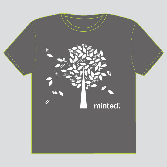 minted t-shirt design - Wandering Leaves by Marlene Leibowitz