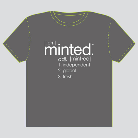 minted t-shirt design - I Am Minted by Lauren Salomonson