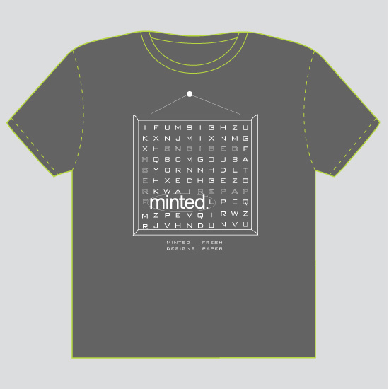 minted t-shirt design - crossword by a la amore