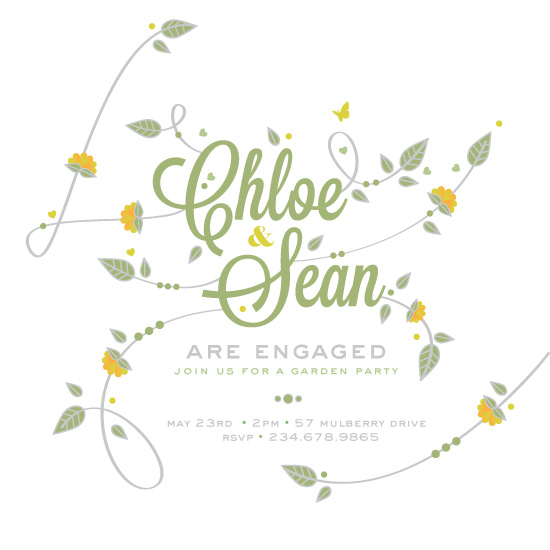 party invitations - Garden Engagement by Diana Steinsnyder