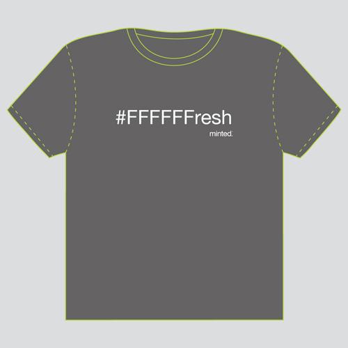 minted t-shirt design - #FFFFFFresh by Jonathan