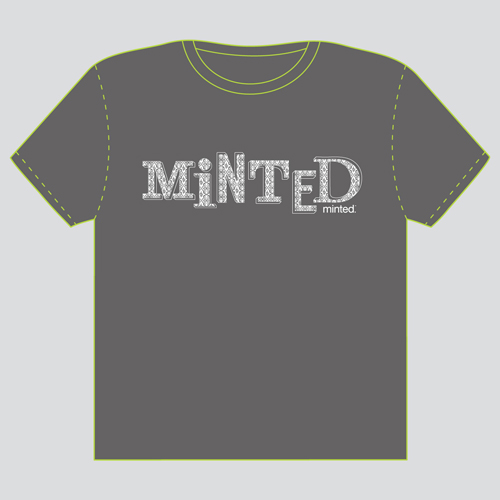 minted t-shirt design - Wallpapered Type by Jonathan