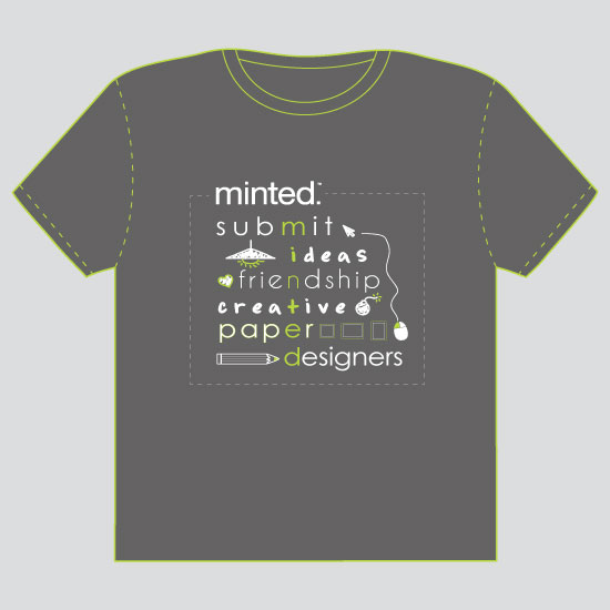 minted t-shirt design - M-I-N-T-E-D by Thy Tran