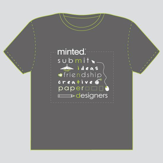 minted t-shirt design - M-I-N-T-E-D by Thy Tran