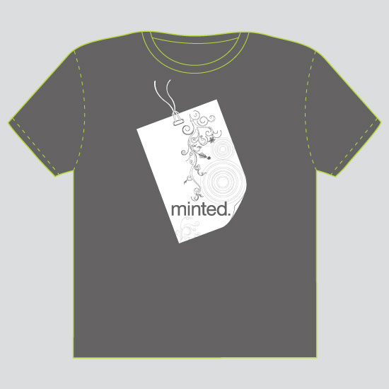 minted t-shirt design - Minted Tag Price  by Lana Boulos