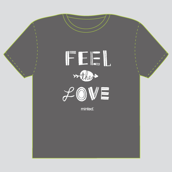 minted t-shirt design - Feel The Love by ERAY