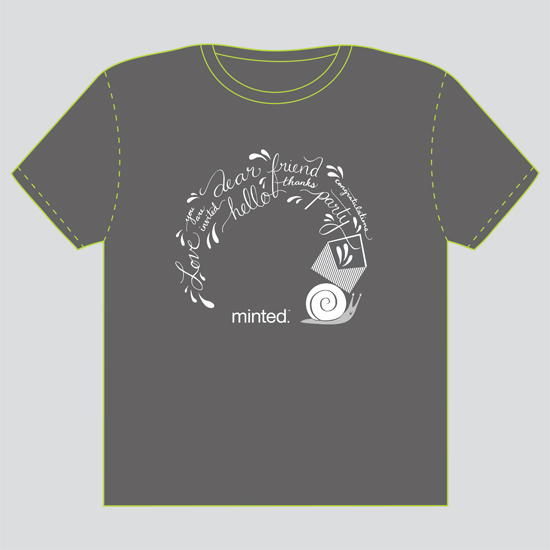 minted t-shirt design - Snail Mail Sentiments by Iron Range Artery