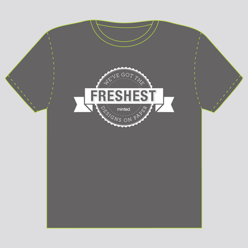 minted t-shirt design - Banner & Stamp by Jonathan