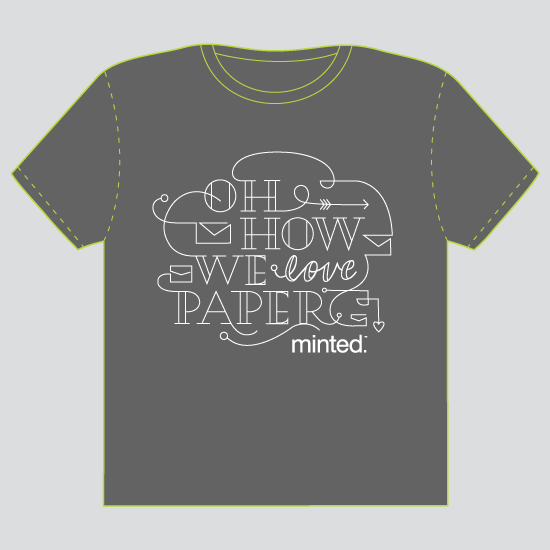 minted t-shirt design - Oh How We Love Paper by Moglea