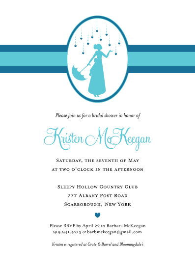 party invitations - Shower the people you love with love by Kathryn Holeman