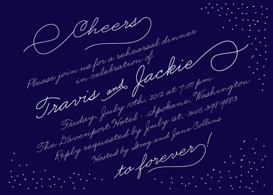 party invitations - Cheers to Forever by la Happy
