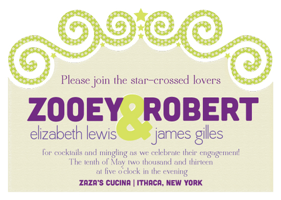 party invitations - Star-Crossed Lovers by Sublime Paperie