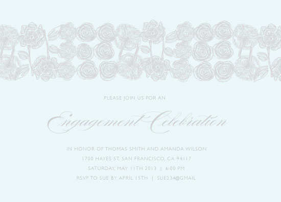 party invitations - Engagement Petals by Jules and Ink