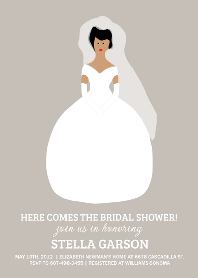 party invitations - Here comes the Bride-al Shower by Sublime Paperie