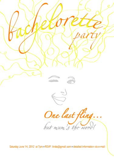 party invitations - one last fling by Gizem Darendelioglu