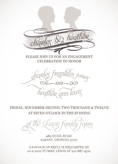 party invitations - Ladies and Gents by Olive Paper
