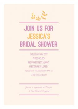 Spring Bloom Shower Invite