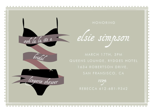 party invitations Lacey Lingerie at Minted – Lingerie Party Invite