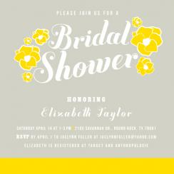 Blooms of yellow bridal shower