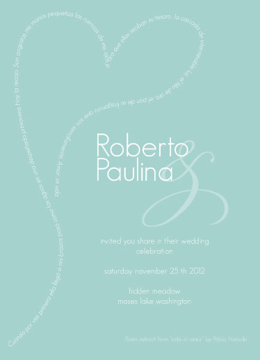 party invitations - lovepoem by Paulina Valenzuela Rodriguez
