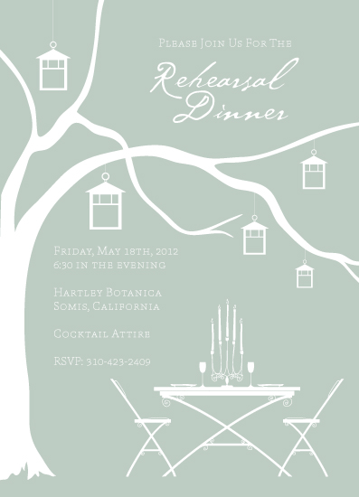 party invitations - Romantic Garden Rehearsal by Becky Nimoy