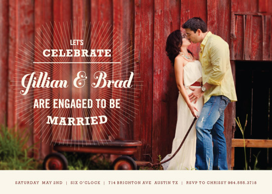 party invitations - Sunburst Engagement by Robyn Cooperstein