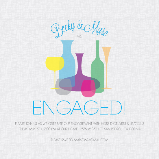 party invitations - Retro Cocktail Engagement by Becky Nimoy