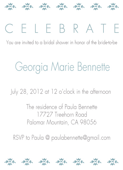party invitations - Fanciful Bride  by Emma Apple